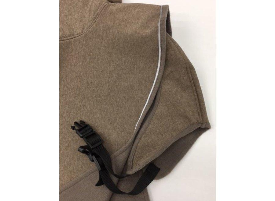 Regenjas voor windhonden Taupe