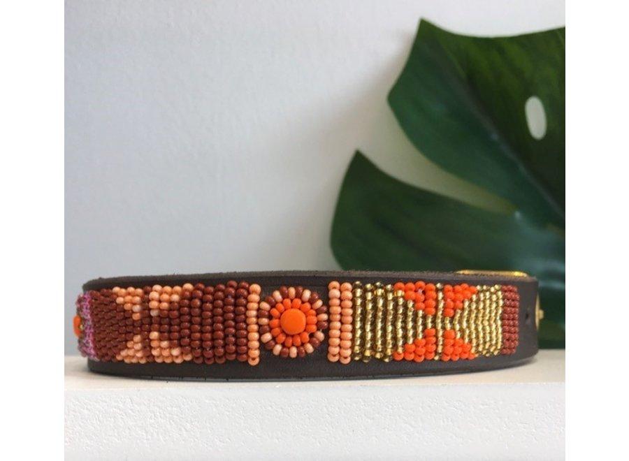 Kralen halsband Framboise