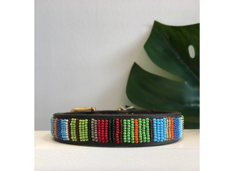 Beaded Dog collar Toon