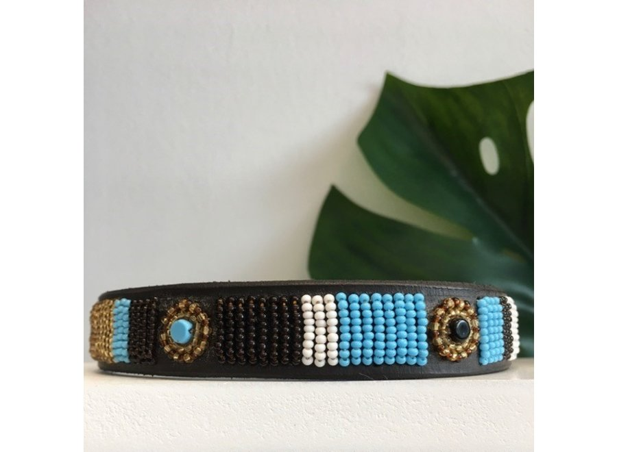 Beaded Dog collar Zoé