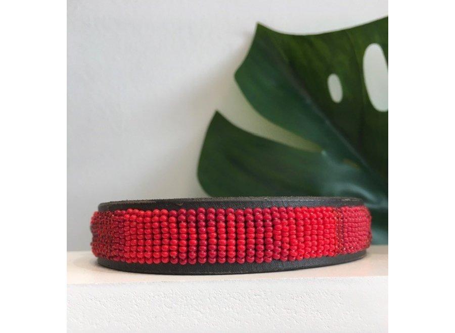 Kralen halsband Red