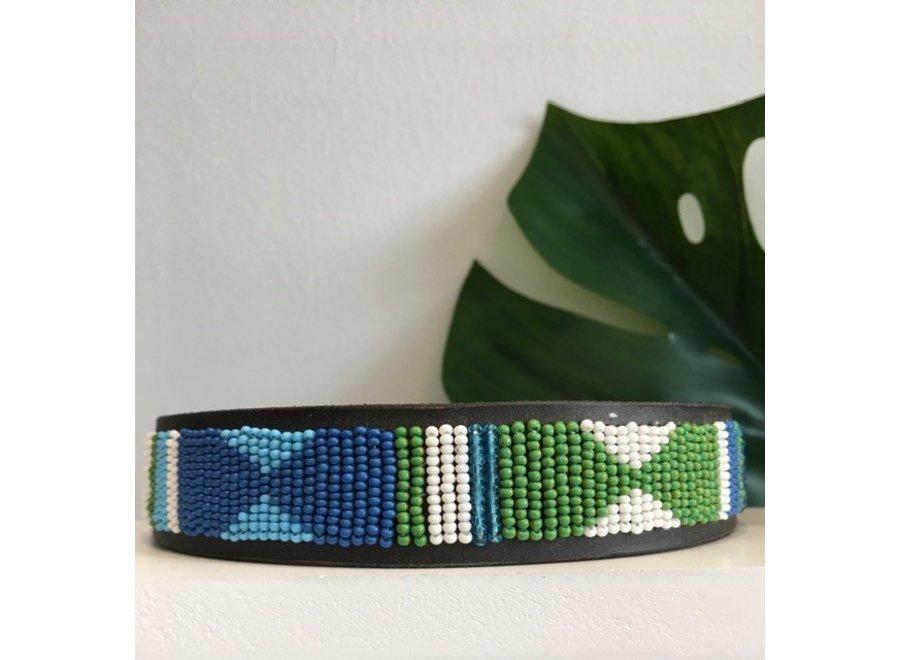 Beaded Dog collar Pilou