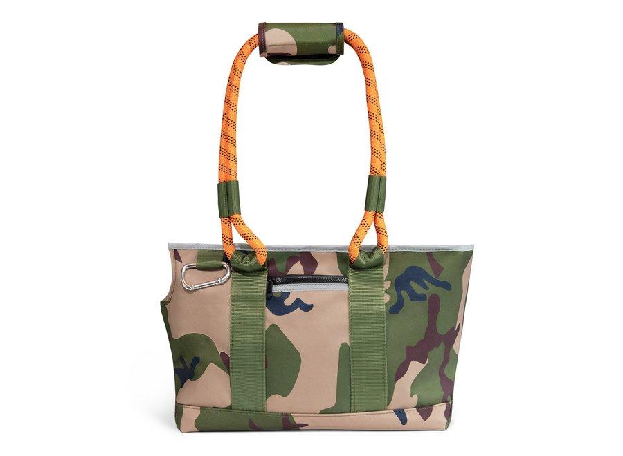 Camouflage honden draagtas