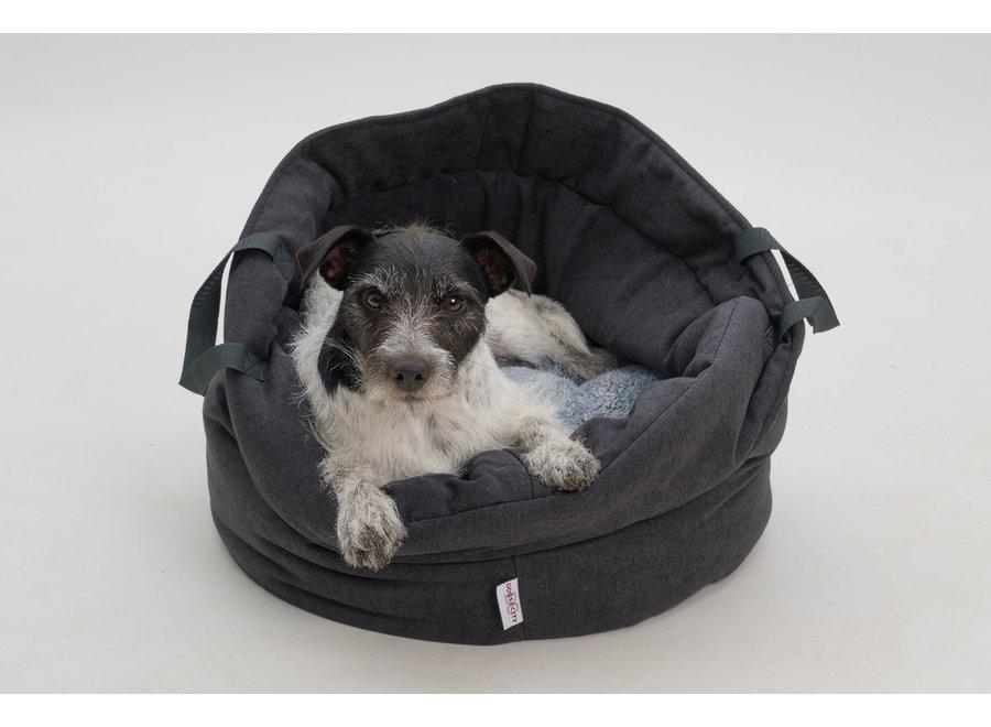 Dog/Cat Basket Shopper dark grey