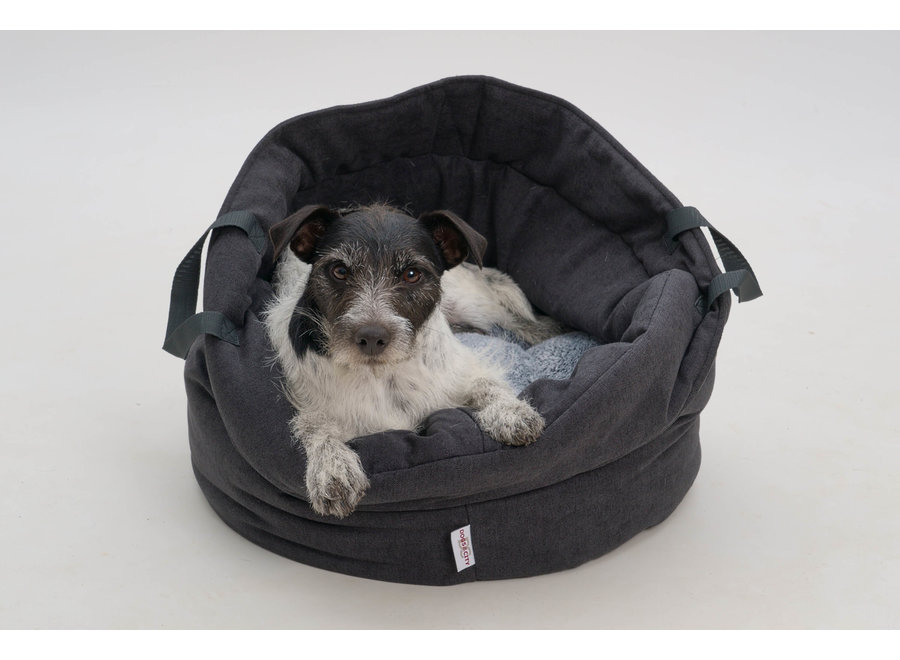 Honden- Kattenmand Shopper donker grijs