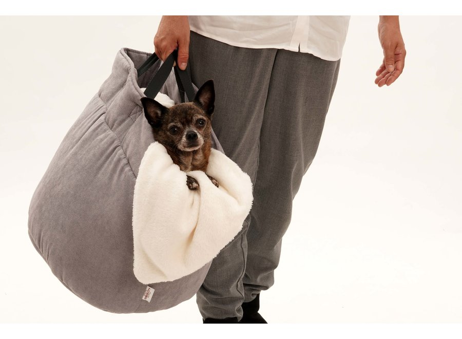 Honden- Kattenmand Shopper grijs