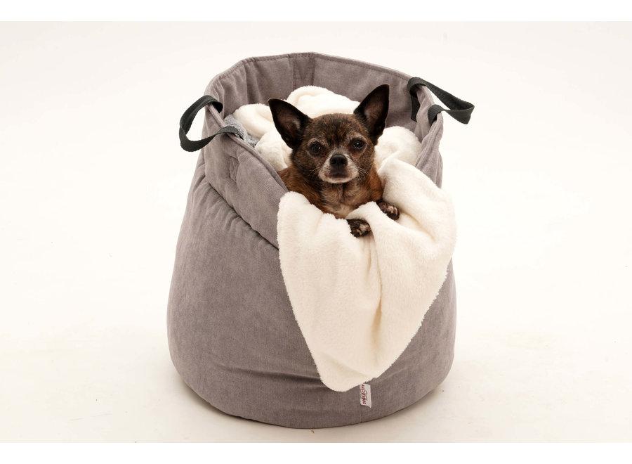 Dog/Cat Basket Shopper grey