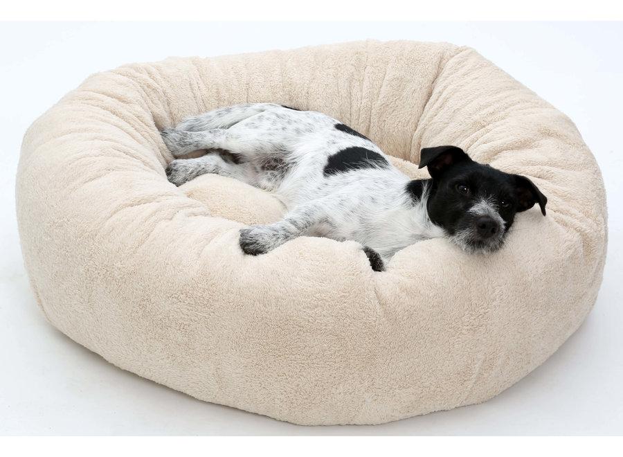 Hondenkussen donut knuffelnest LOOP Pooch fluffy beige