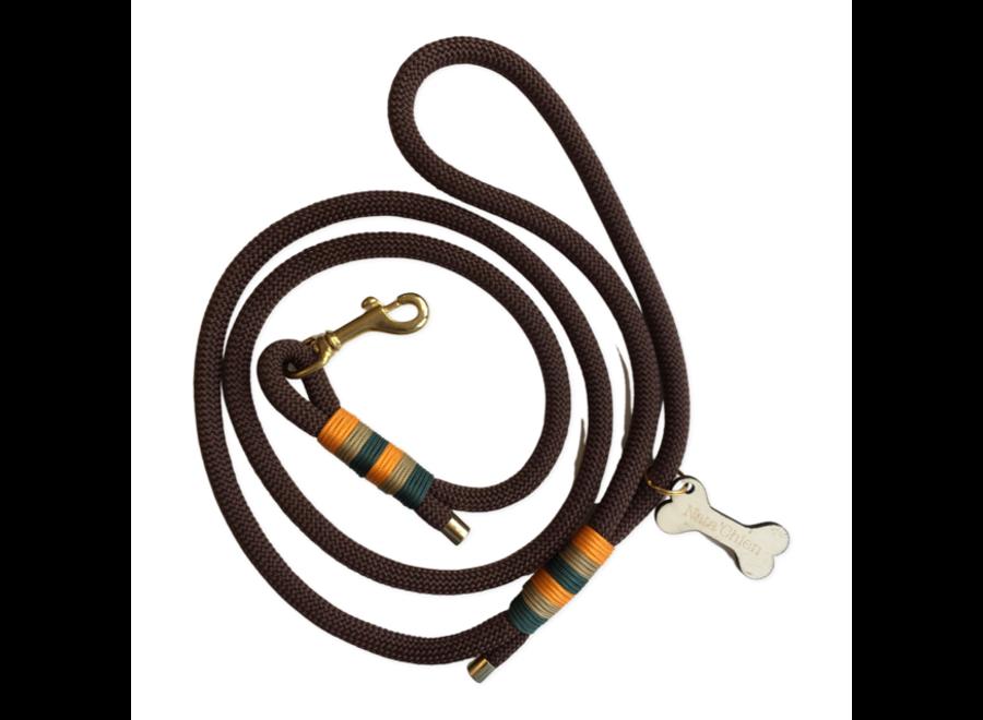 Leiband touw bruin