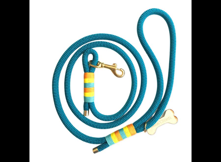 Leiband touw turquoise