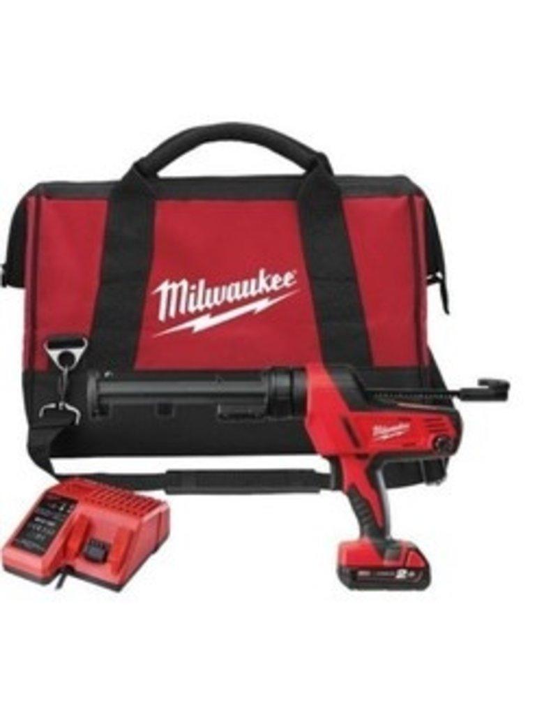 Milwaukee C18 PCG/310C-201B - Batterij Pistool Set 310ml kokers