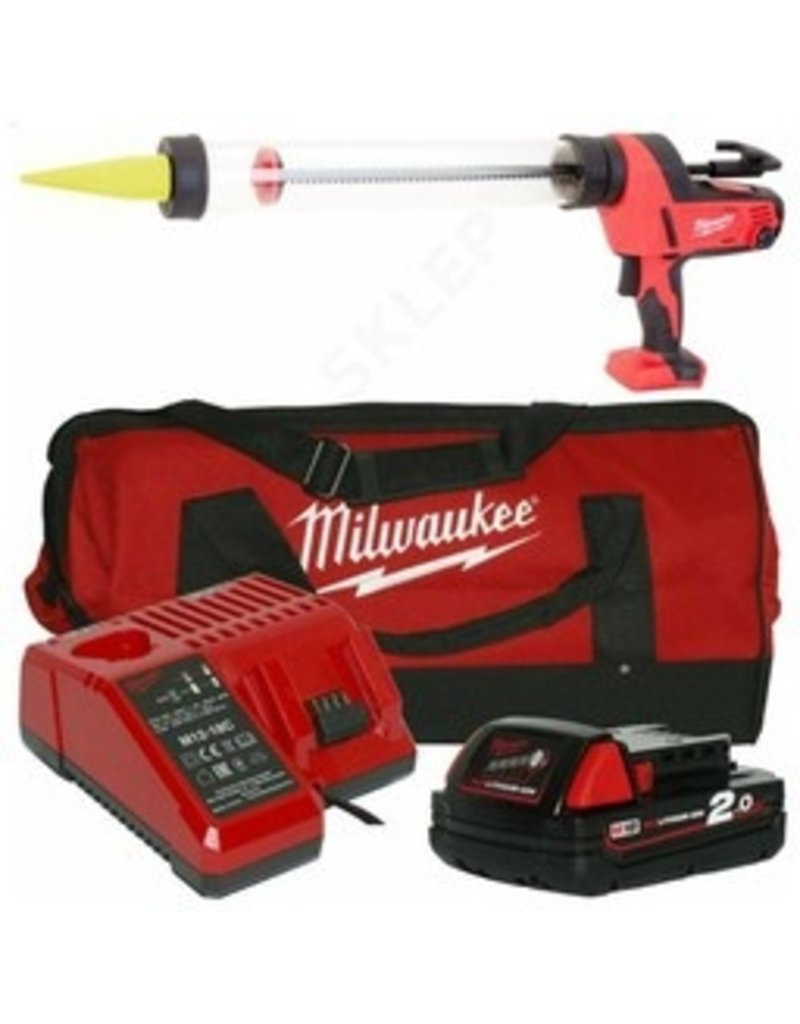Milwaukee C18 PCG/600T-201B - Batterij Pistool (Set) 600ml worsten