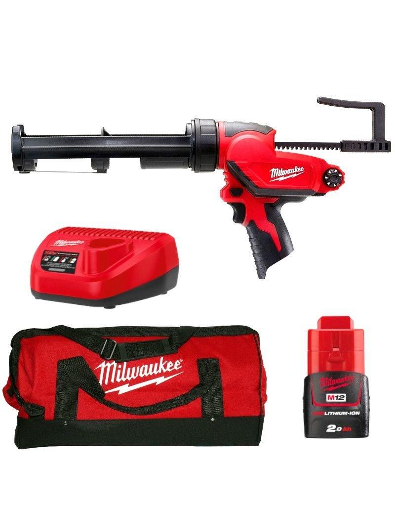 Milwaukee M12 PCG/310C-201B - 1K Batterij Pistool 310ml kokers