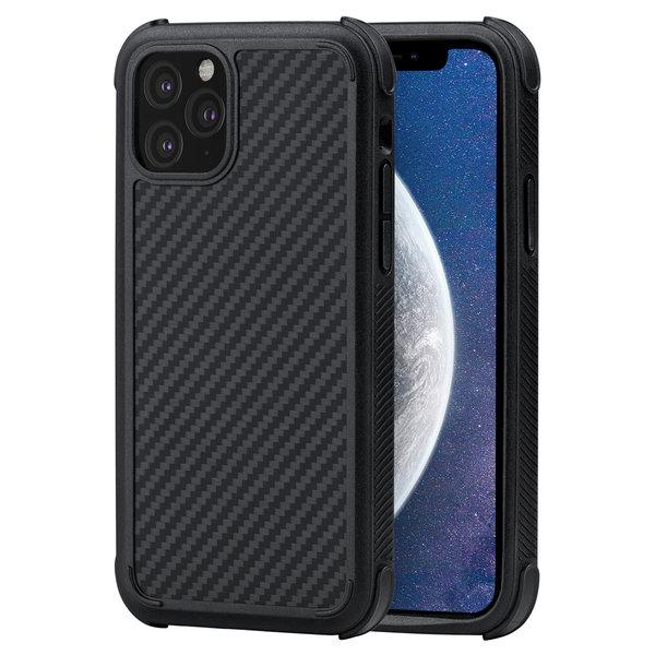 Pitaka - MagEz Case Pro - Apple iPhone 11 Pro Max - Twill-patroon (zwart)