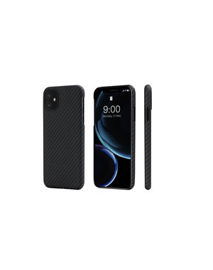 Pitaka - MagEz Case - Apple iPhone 11 - Aramid Fiber/Kevlar – Twill-patroon (zwart)