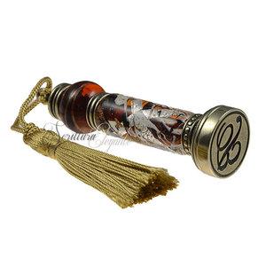 Bortoletti Wax stempel handvat Murano glas Foglia Argento