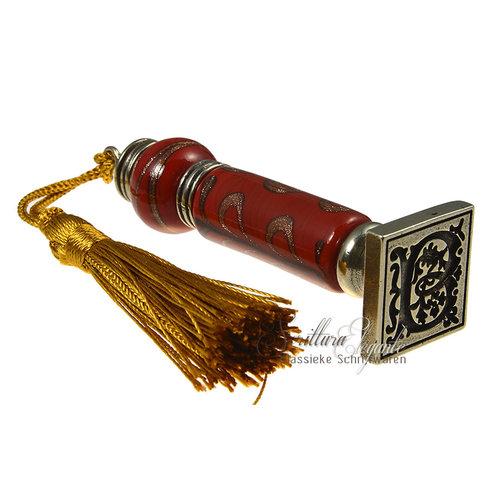 Bortoletti Wax stempel handvat Murano glas Fiorato