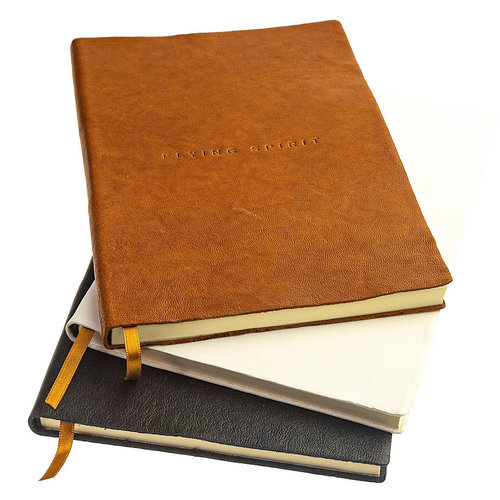 Clairefontaine Flying Spirit a5 lined leather notebook - Black