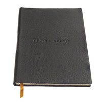 Flying Spirit a5 lined leather notebook - Black