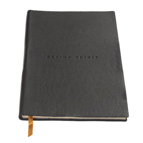 Clairefontaine Flying Spirit a5 dotted leren notitieboek - Zwart