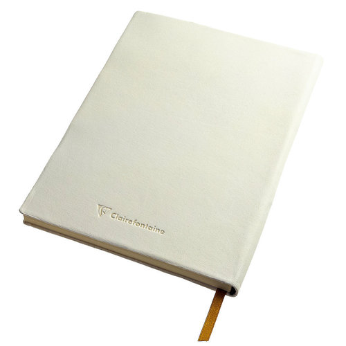 Clairefontaine Flying Spirit a5 dotted leather notebook - White
