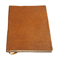 Flying Spirit a5 dotted leren notitieboek - Cognac