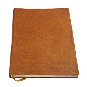 Clairefontaine Flying Spirit a5 dotted leren notitieboek - Cognac
