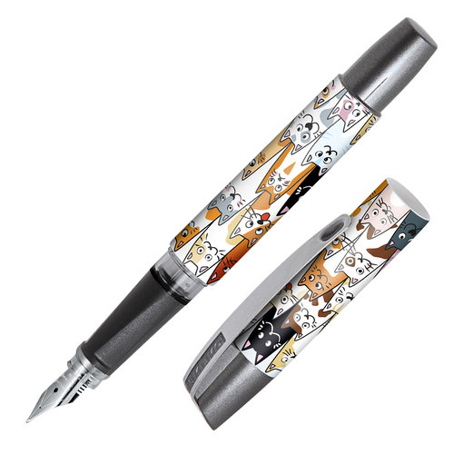 ONLINE Campus fountain pen - Fluffy Cats