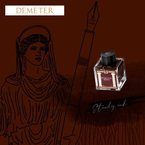Laban Greek Mythology ink - Demeter Brown