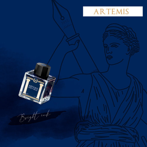 Laban Greek Mythology ink - Artemis Blue