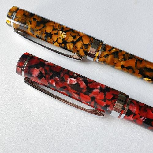 Scrittura Elegante Puro vulpen Amber Flake