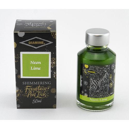 Diamine Shimmer ink - Neon Lime