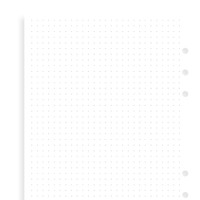 Filofax white dot grid note paper - A5