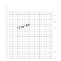 Filofax white squared note paper - A5