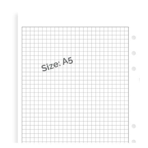 Filofax Filofax white squared note paper - A5