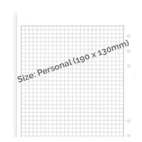 Filofax wit ruit notitiepapier - Personal