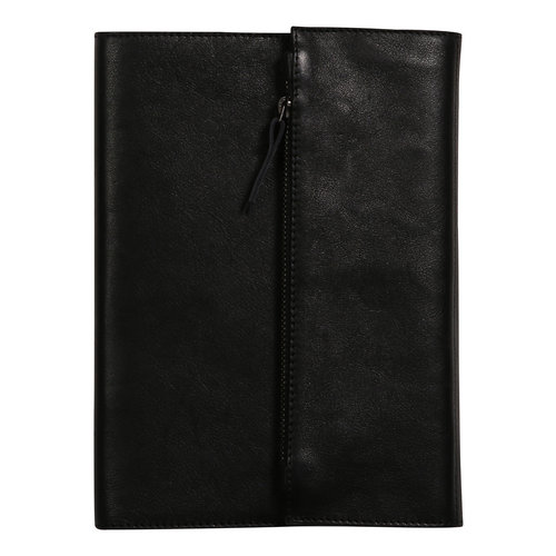 Clairefontaine Refillable leather notebook with pouch - Black A5
