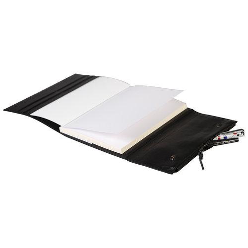Clairefontaine Navulbaar leren notitieboek met etui - Zwart A5