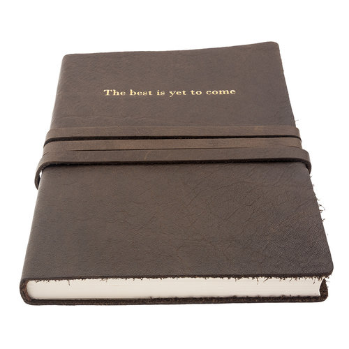 """Manufactus """"The best is yet to come"""" leather notebook A5"""