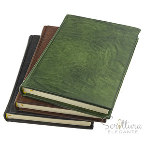 Legatoria Toscana Echo leren notitieboek A5 Gelinieerd