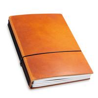 Travel Journal / organizer - Brandy  A5 - 4 elastieken