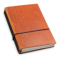 Travel Journal / organizer - Brandy  A6 - drie elastieken