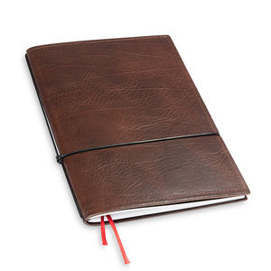 X17 Travel Journal / organizer - Kastanje  A5 - een elastiek