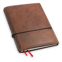 X17 Travel Journal / organizer - Kastanje  A6 - een elastiek