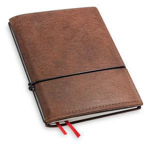 X17 X17 Travel Journal / organizer - Kastanje  A6 - een elastiek