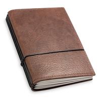 Travel Journal / organizer - Chestnut A6 - three elastics