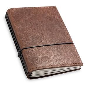 X17 Travel Journal / organizer - Chestnut A6 - three elastics