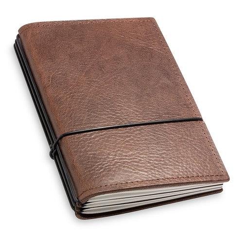 X17 Travel Journal / organizer - Kastanje  A6 - drie elastieken