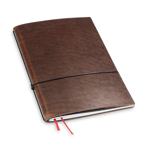 X17 Travel Journal / organizer - Marone A5- een elastiek