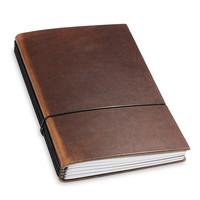 Travel Journal / organizer - Marone A5- vier elastieken